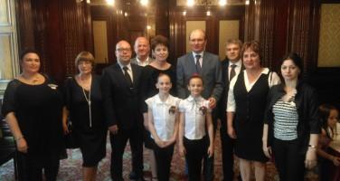 С генеральным консулом РФ в Эдинбурге Андреем Прицеповым